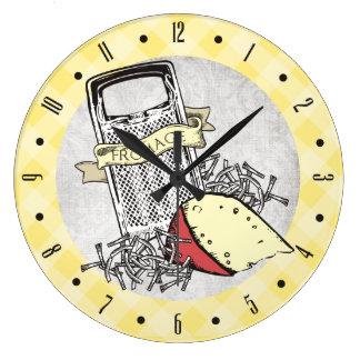 Reloj de encargo del fromage del rallador del