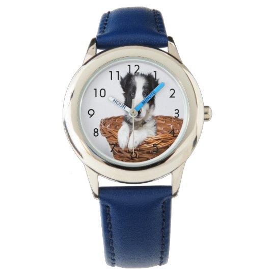 Reloj de encargo del mascota de la familia