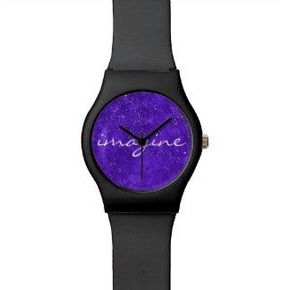 Reloj de encargo ultravioleta de la cara