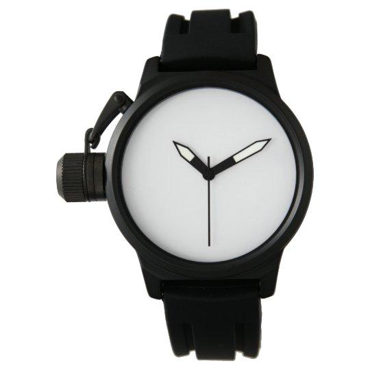 Custom Reloj para hombre con protector de corona goma negra