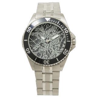 Reloj de hombre con acero fino carcasa y pulsera Z