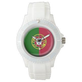 Reloj de la bandera de Portugal