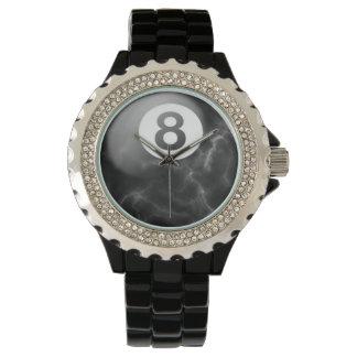 Reloj de la bola del mármol 8 de los billares