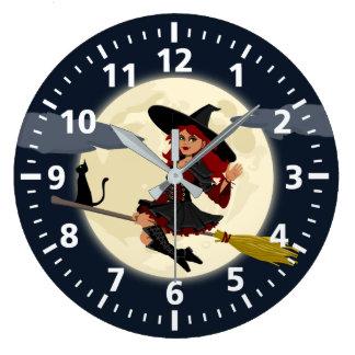 Reloj de la bruja de Halloween