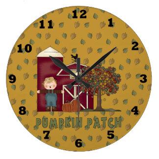 Reloj de la caída del remiendo de la calabaza