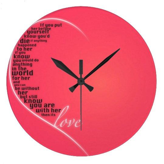 ¡Reloj de la cita del amor! Reloj Redondo Grande