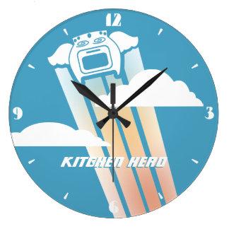 Reloj de la cocina del héroe de la cocina del