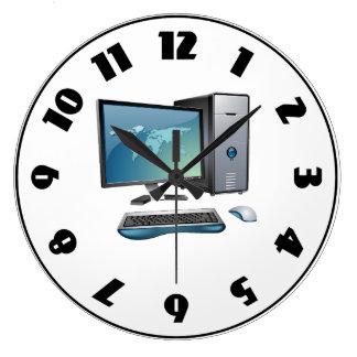 Reloj de la computadora de escritorio