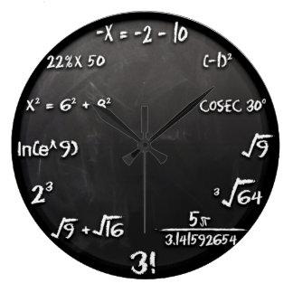 Reloj de la ecuación de la matemáticas (negro)