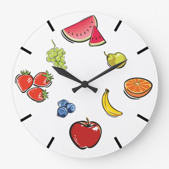 Reloj de la fruta de la diversión