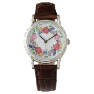 Reloj de la guirnalda el | de la flor de Boho
