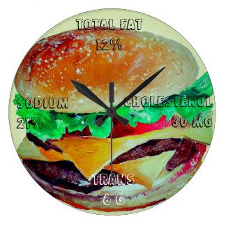 Reloj de la hamburguesa, arte pop de Artlarissa