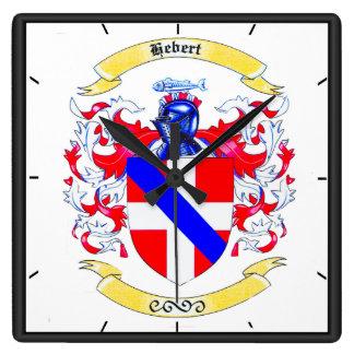 Reloj de la herencia del escudo de la familia de