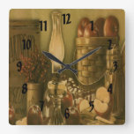 Reloj de la impresión de la cesta de Apple del