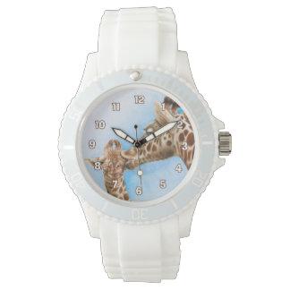 Reloj de la jirafa y del becerro
