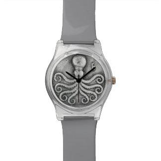 Reloj de la moneda del pulpo