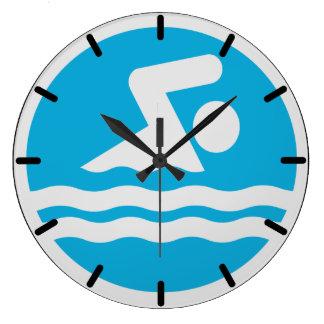 Reloj de la natación para la piscina o la oficina
