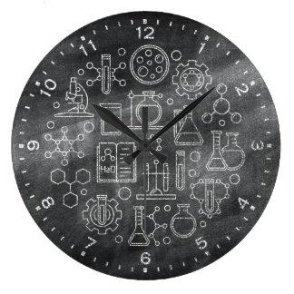 Reloj de la pizarra de la ciencia de la química