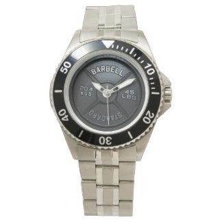Reloj de la placa del Barbell