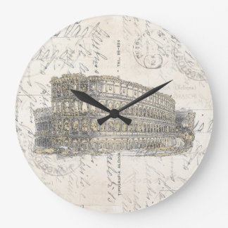 Reloj de la postal del coliseo del vintage