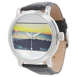 Reloj de la puesta del sol de Nueva Zelanda
