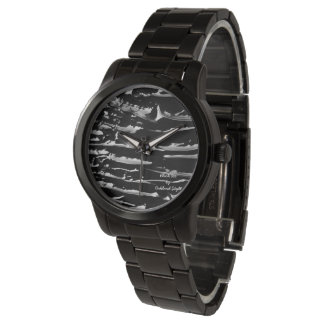 Reloj de la pulsera de la banda del negro del