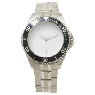 Reloj de la pulsera del acero inoxidable de los