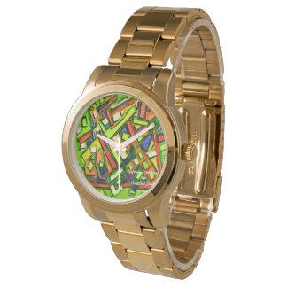 reloj de la pulsera del oro de Oakland del iUptown