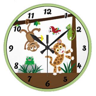 Reloj Redondo Grande Reloj de la selva de la selva tropical