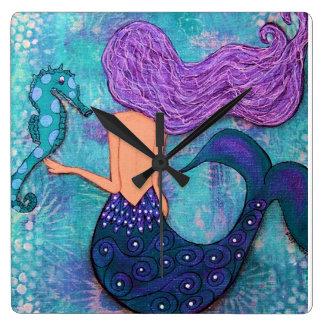 Reloj de la sirena, reloj del Seahorse, reloj del