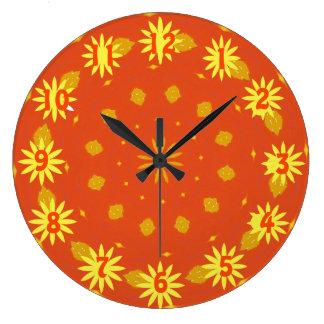 Reloj Redondo Grande Reloj de la sol del otoño