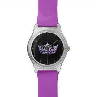 Reloj de la Srta. América lila corona el 28 de