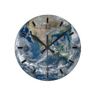 Reloj de la tierra del planeta (con números)
