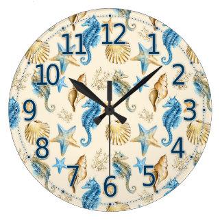 Reloj de la vida marina, reloj bonito del vidrio