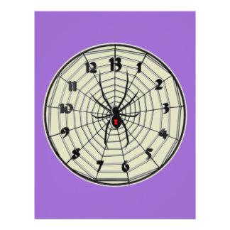Reloj de la viuda negra de 13 horas en marco folleto 21,6 x 28 cm