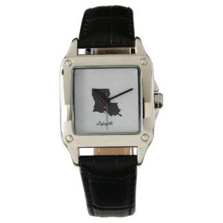 Reloj de Lafayette Luisiana del amor del I de las