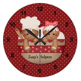 Reloj de los cocineros del pan de jengibre del paí