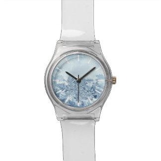 Reloj de los cristales May28th del copo de nieve