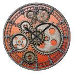 reloj de máquina vintage de los engranajes de vapo