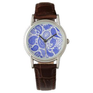 Reloj de moda azul de Paisley de Julia Everhart
