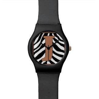 Reloj de moda de la J-Cebra