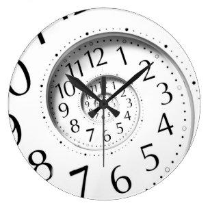 Reloj de pared abstracto del infinito del espiral
