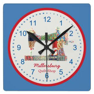 Reloj de pared americana de la máquina de coser