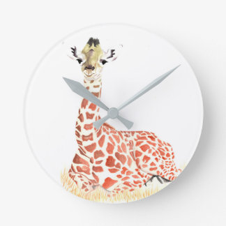 Reloj de pared animal del bebé
