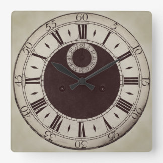 Reloj de pared antiguo clásico de los números