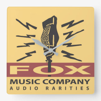Reloj de pared audio de las rarezas de Fox Music