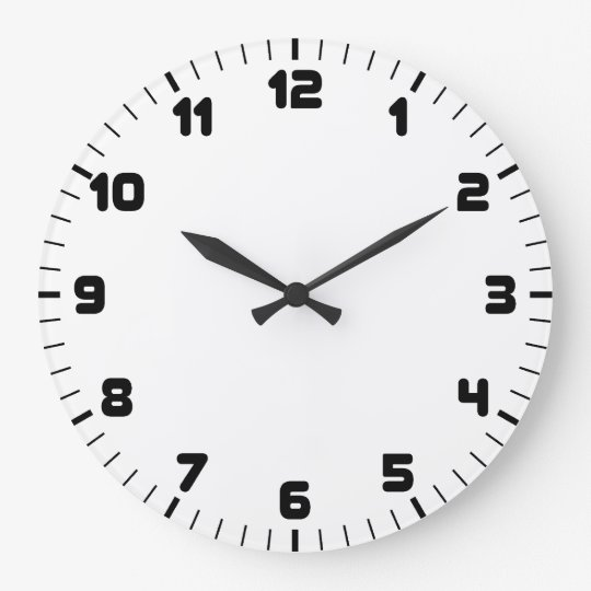 Reloj de pared blanco y negro - Relojes de pared personalizados ...