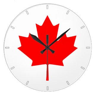 Reloj de pared canadiense de la hoja de arce de la