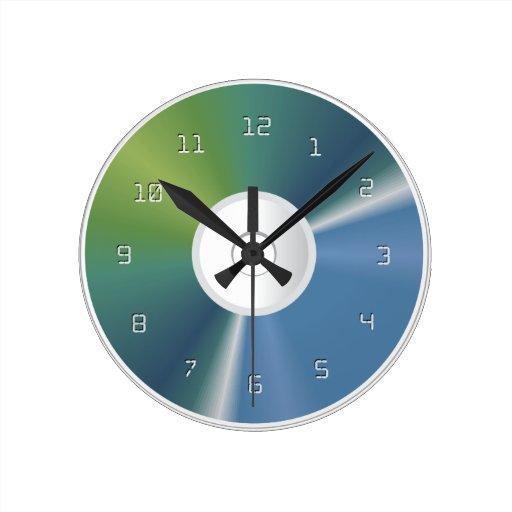Reloj de pared cd del disco de la memoria del dvd zazzle - Reloj de pared diseno ...