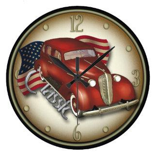 Reloj de pared clásico americano del coche
